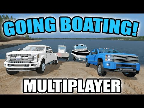 FARMING SIMULATOR 2017 | GOING BOATING WITH A BRAND NEW BOAT & NEW LAKE | MULTIPLAYER