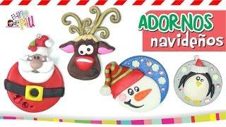 Polymer Clay Christmas Ornaments / ESFERAS DE NAVIDAD Thumbnail