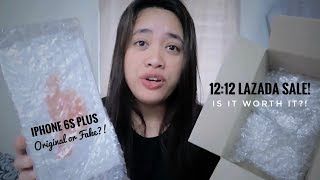 Gambar cover UNBOXING iPhone 6s Plus from Lazada 12:12 Year End Sale
