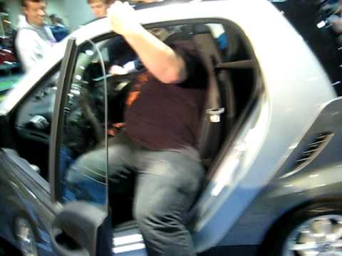 big dumb guy in little smart car youtube. Black Bedroom Furniture Sets. Home Design Ideas