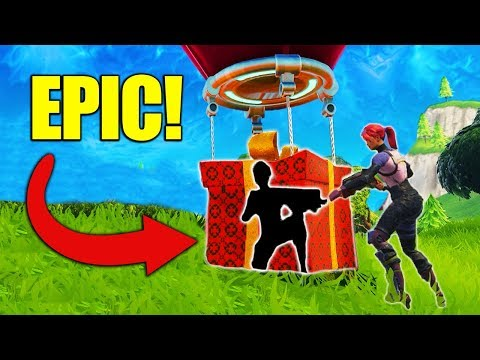 Hiding INSIDE The Supply Drop! [Fortnite]