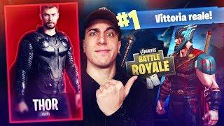 VITTORIA REALE con THOR! Fortnite Battle Royale ITA!