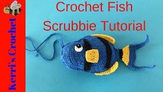 Crochet Fish Scrubbie Tutorial