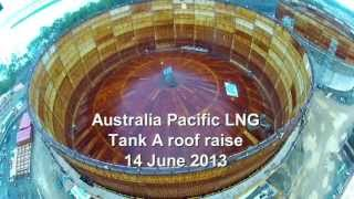 Raising the roof on LNG tank