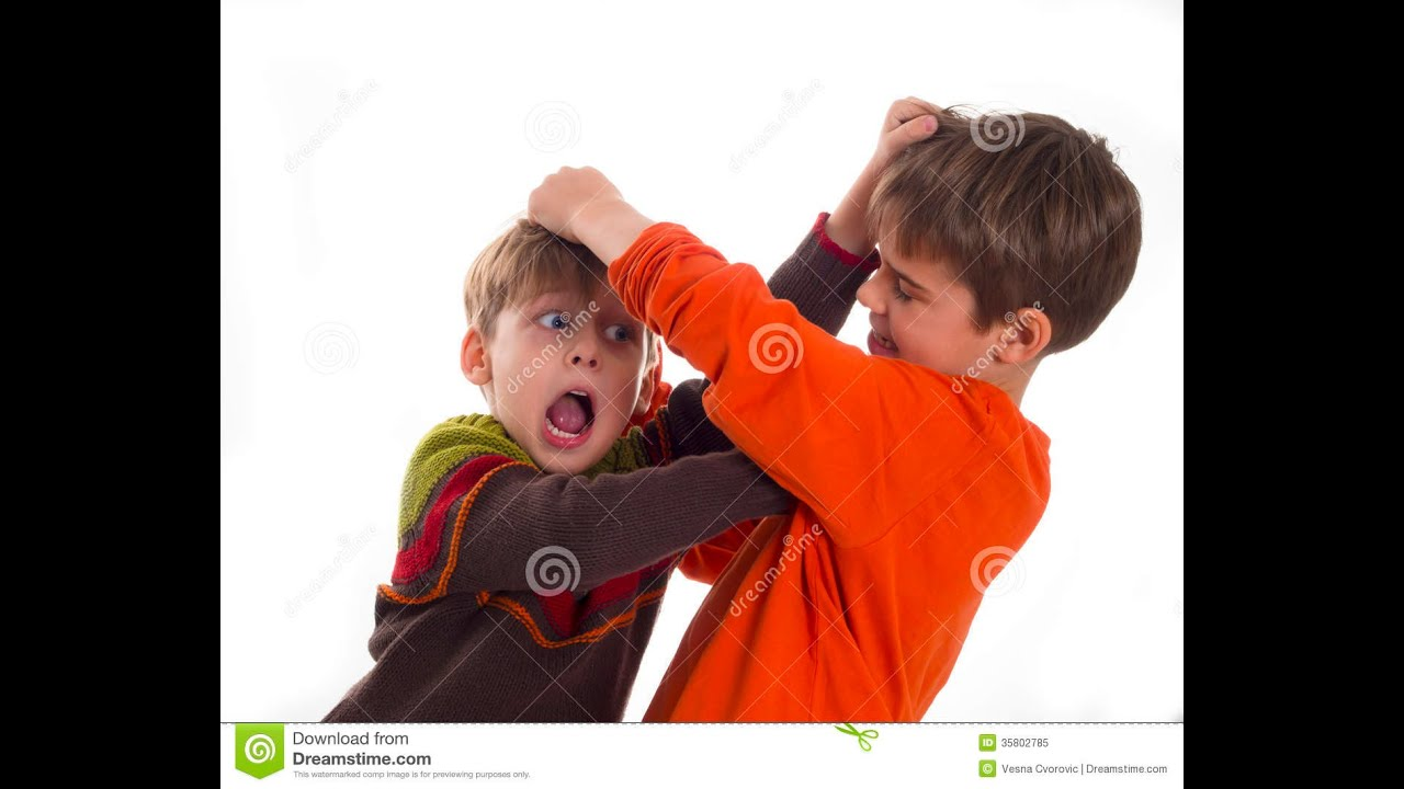 Little kids fighting at school