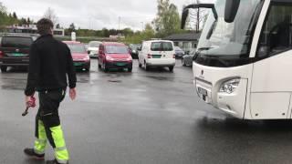 Agder Storbilskole. Daglig kontroll 2017 Scania Higer buss.
