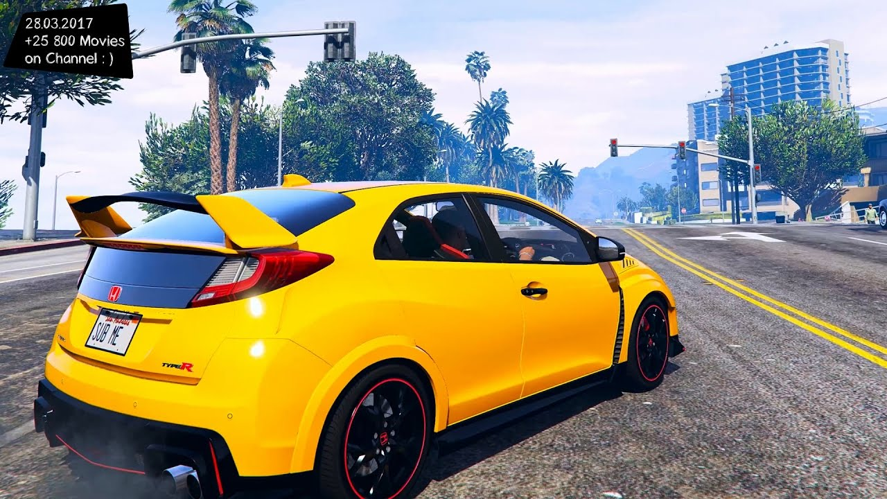 2015 honda civic type r gta v tuning 4k 60fps. Black Bedroom Furniture Sets. Home Design Ideas