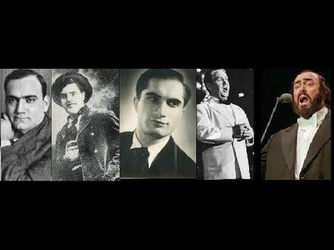 Questa o quella (Rigoletto - Verdi) : Caruso, McCormack, Schmidt, Bjorling, Pavarotti.