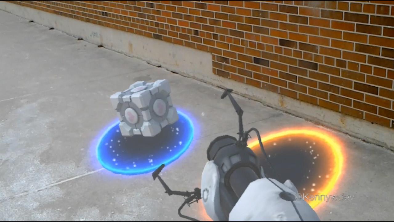 Resultado de imagem para Portal ganha versão não oficial para HoloLens e