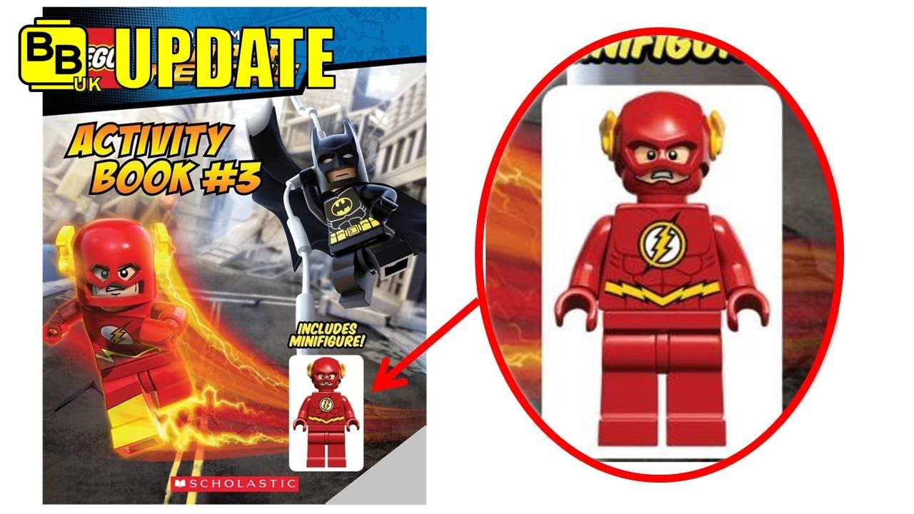 LEGO DC SUPER HEROES ACTIVITY BOOK FLASH MINIFIGURE