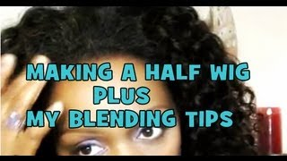 Part 2 Half Wig Making With The Fusion Method ~ Plus Hair Line Blending Tips