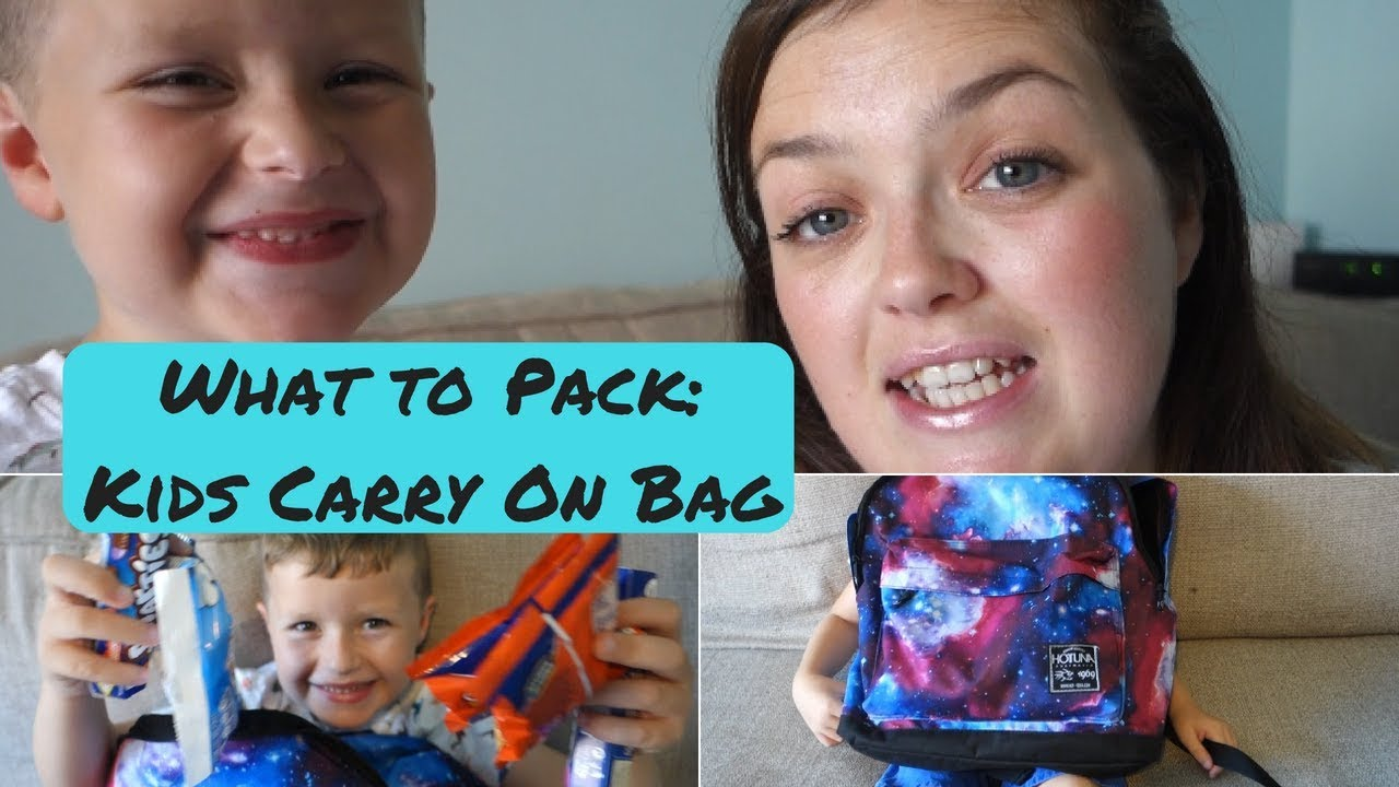WHAT TO PACK IN KIDS CARRY ON BAG  LONG HAUL FLIGHT - YouTube 9ce950f740631