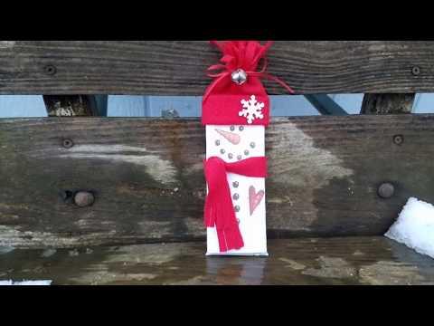 DIY Craft Fair Project #3 - Hershey Bar Snowman