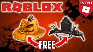 HOW TO GET PUMPKIN FEDORA AND HERE LIES FOR FREE | ROBLOX HALLOWS EVENT 2018
