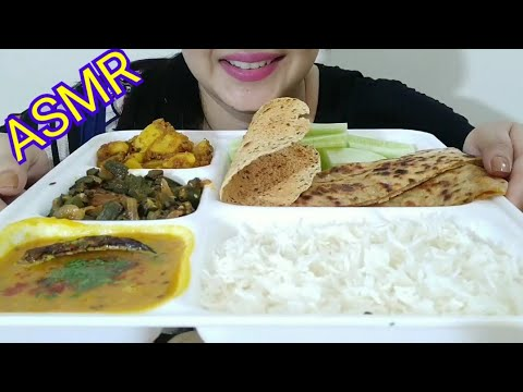 PUNJABI THALI ASMR | INDIAN FOOD  EATING SOUND | DETECTIVE BITES