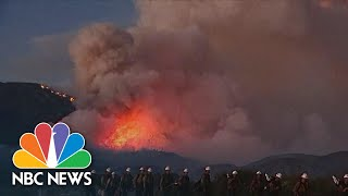 Fast-Moving Wildfire Hits Southern California Amid Coronavirus Crisis | NBC Nightly News