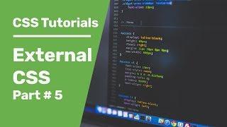 Link CSS To HTML | CSS Tutorials 5 | External CSS | How To Link CSS To HTML File Using HTML Link Tag
