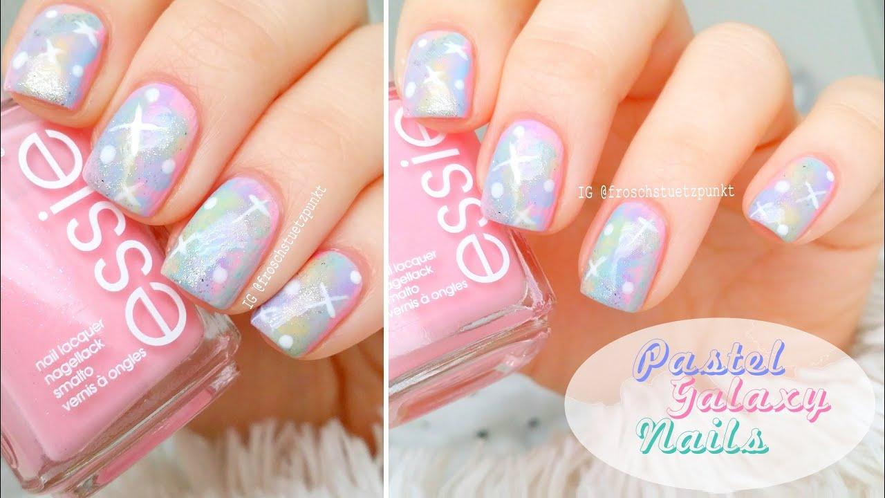 Tutorial: Pastel Galaxy Nails - YouTube