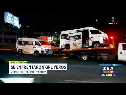 Operadores de grúas se enfrentan con transportistas en Atizapán | Noticias con Francisco Zea