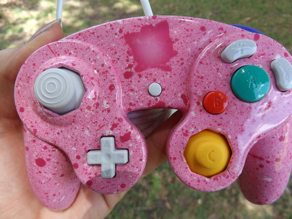 Custom Jigglypuff with Pink and White Speckles Gamecube Controller