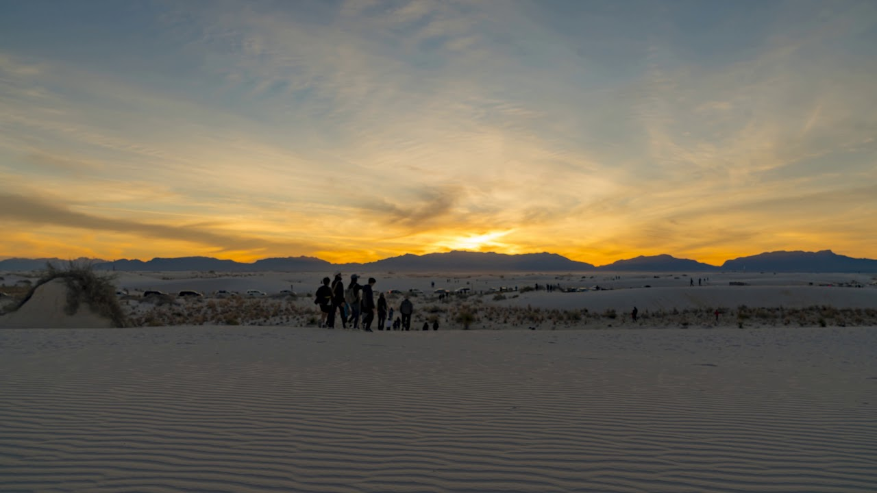 White Sands National Monument - Sunset Timelapse 4K Ultra HD