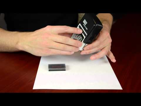 Replacing Your 2000 Plus Self Inking Date Stamp Ink Pad