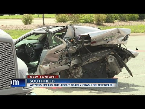 Witness speaks about deadly crash on Telegraph in Southfield