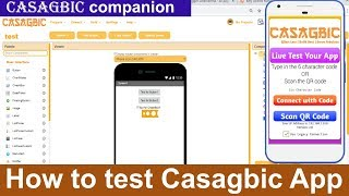 How to test casagbic app    CASAGBIC companion download    android app development without coding