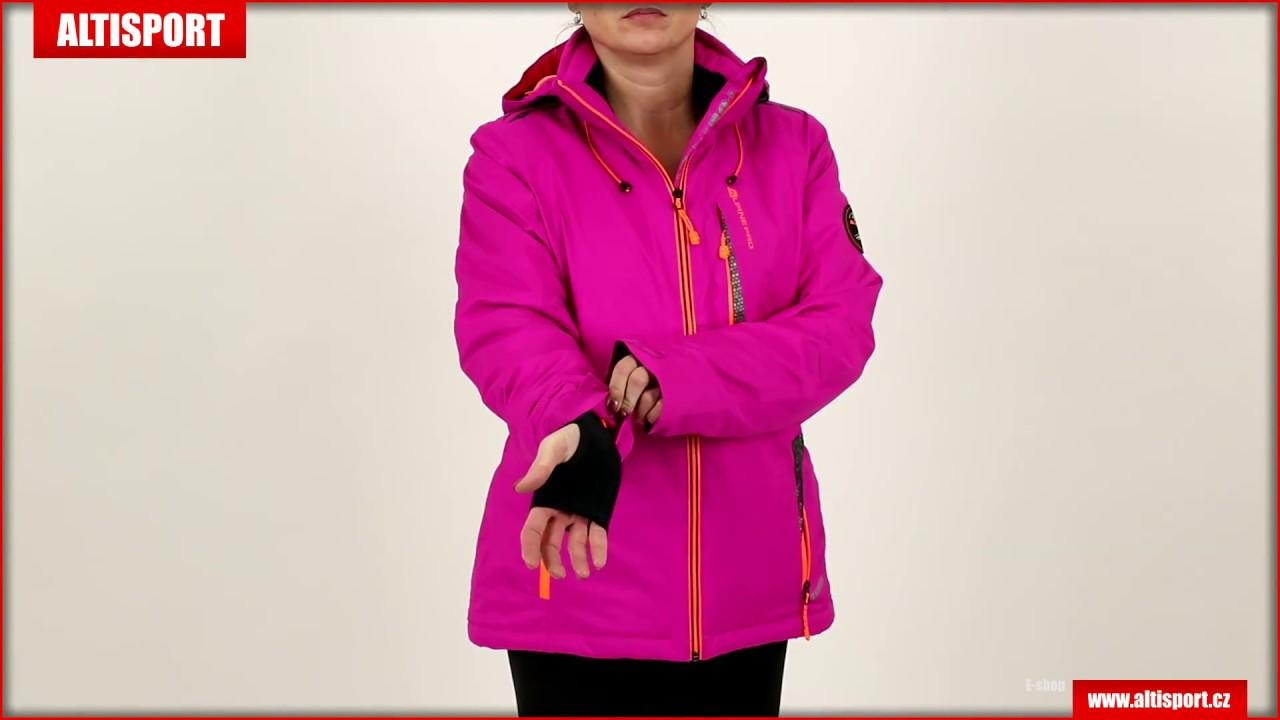 dámská bunda alpine pro gilletta růžová - YouTube 2373e1a4ef