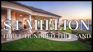 $4,300,000 Living in the CLOUDS OF RANCHO SANTA FE!!! (Pure Luxury)