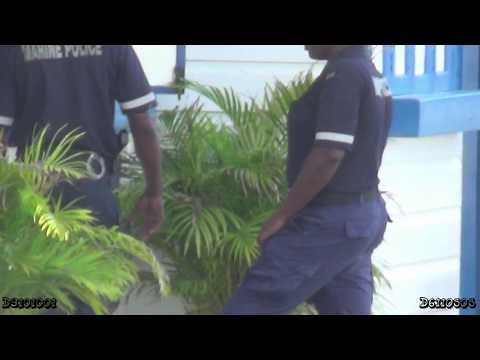 Marine Police in Jamaica armed with Glock pistol