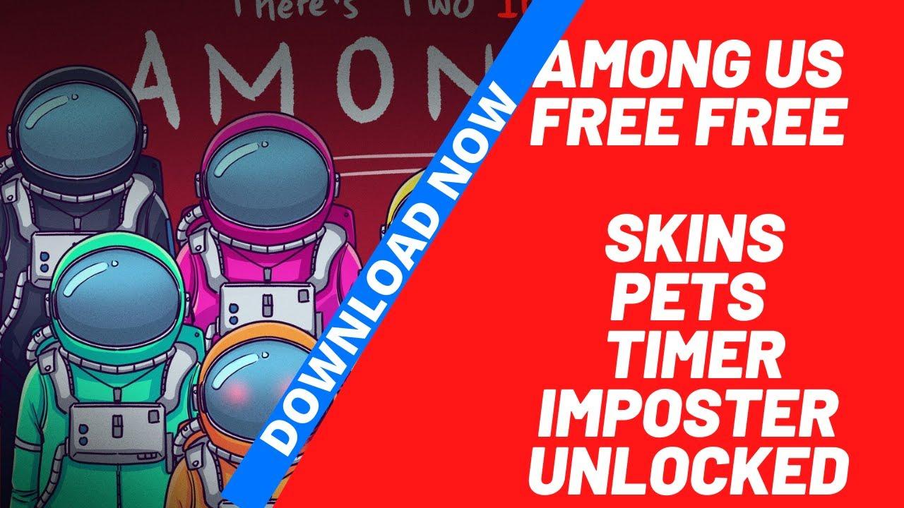 Among Us Free Skins Mod All Things Unlocked For Free Free 100 Amonguus Among Us Cracked Youtube