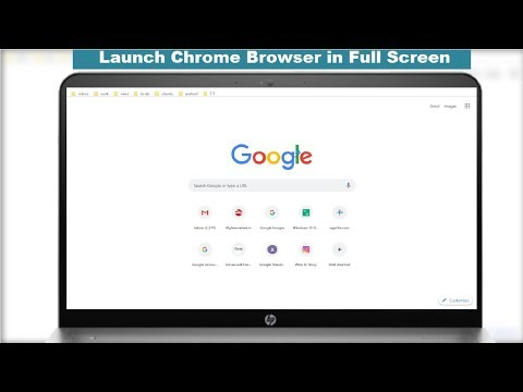How To Launch Google Chrome Browser Direct In Full Screen In Windows PC