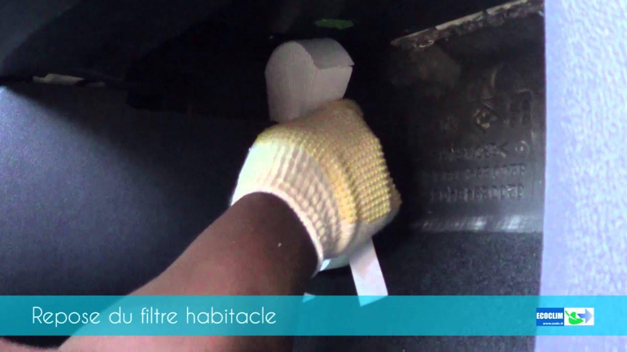 filtre habitacle renault clio youtube. Black Bedroom Furniture Sets. Home Design Ideas
