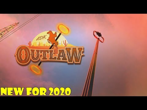 Adirondack Outlaw NEW FOR 2020 Attraction At Six Flags Great Escape