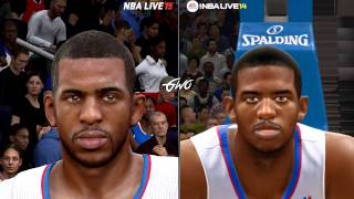 NBA LIVE 15 vs NBA LIVE 14 Face/Graphics Comparisons