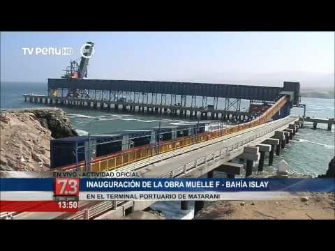 Mandatario inauguró Muelle F - Bahía Islay en Terminal Portuario de Matarani