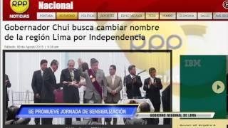 RPP DIFUNDE A NIVEL NACIONAL PROPUESTA PARA CONVERTIRNOS EN DEPARTAMENTO DE LA INDEPENDENCIA