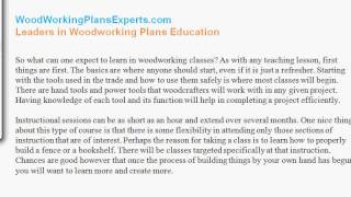 Woodworking Classes And Woodworking Plans