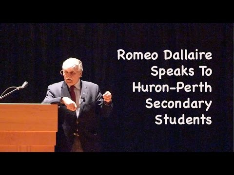 Romeo Dallaire speaking to Huron-Bruce Secondary Students May 15, 2015