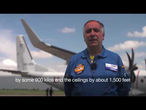 Airbus flight engineer talks about Winglets on the  C295W