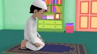 Clip 8 Subtitled (from sajuud into tashahud 2 rakat prayer)