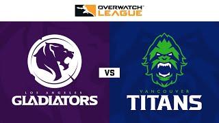 Los Angeles Gladiators vs Vancouver Titans |Overwatch League 2020 Season Opening Weekend | Day 1