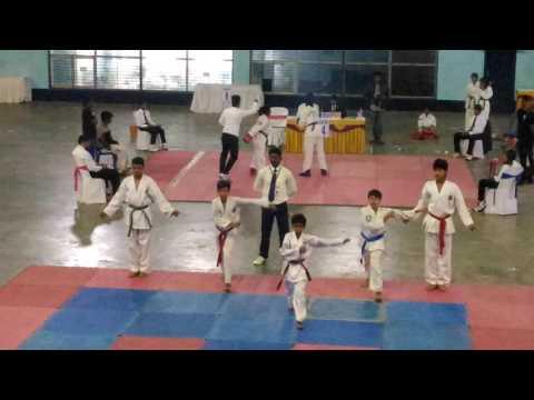 Taekwondo group patterns ( chonji )