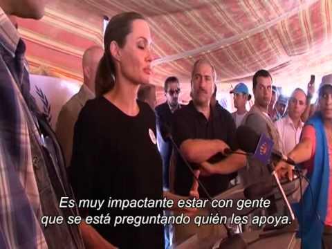 Jordania: Angelina Jolie en la frontera siria
