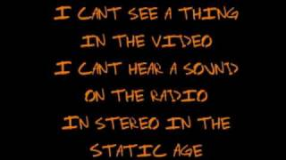 The Static Age w/ Lyrics - Green Day