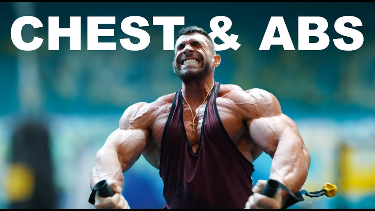 Chest and Abs Workout - 4 weeks out from the 2021 Mr. Olympia - 212 Bodybuilding Competition