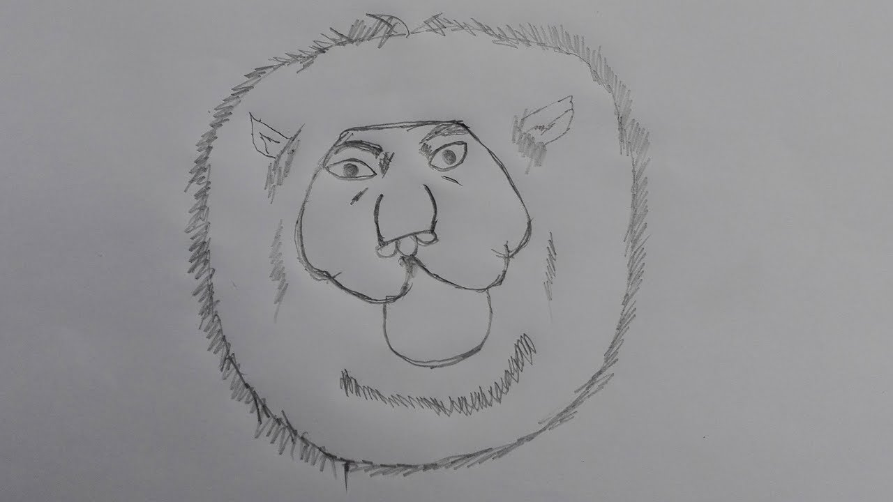How To Draw A Lion Step By Step For Beginners Draw A Lion Step By Step In Pencil