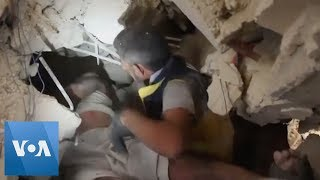 Man Freed from Rubble After Syrian Air Raid