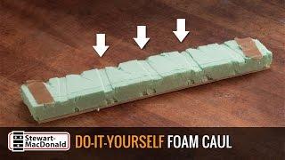 Custom guitar caul from styrofoam